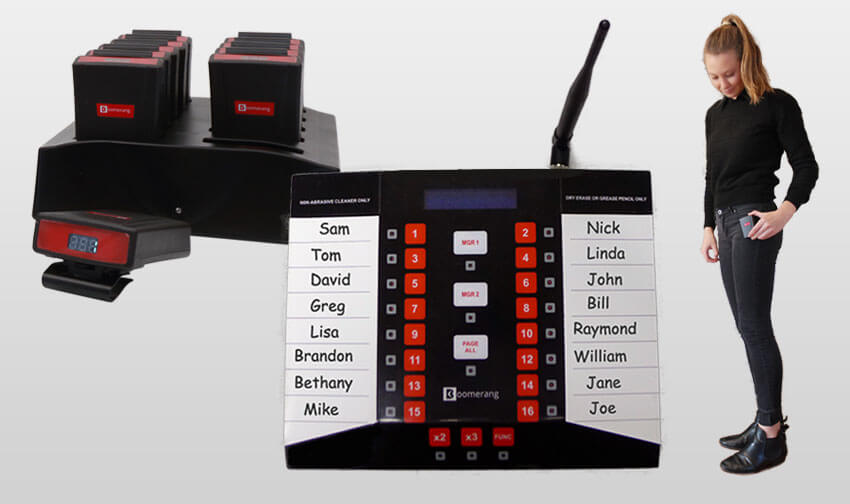 Server Call Waiter Paging System Pager Call Systems